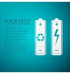 Recycled Battery Eco Concept Renewable Energy vector