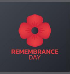 Remembrance day logo icon design vector