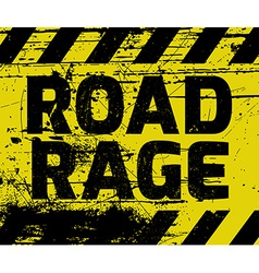 Road rage sign vector