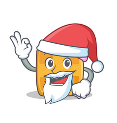 Santa waffle character cartoon design vector