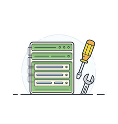 screwdriver spanner vector image