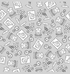 Seamless pattern on the pirates theme vector