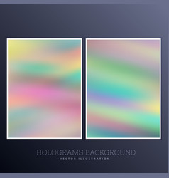 Set of holographic background vector