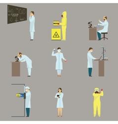 Set of Scientific Characters vector image