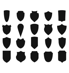 Shields silhouettes set vector image