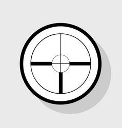 Sight sign flat black icon vector