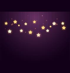 siny stars on purple background vector image