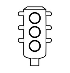 sketch silhouette image traffic light element of vector image