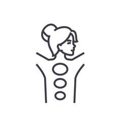 spastone massage line icon sign vector image