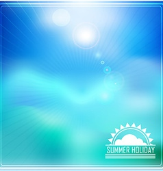 Summer holidays with logo vector image