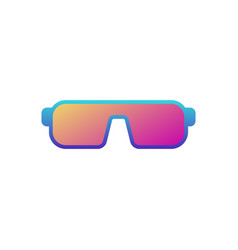 Sunglasses colored icon on white background vector