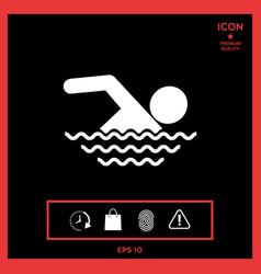swim icon vector image