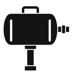 Tire fitting air compressor icon simple style vector