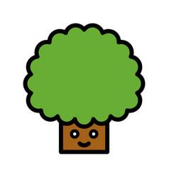 tree spring season filled icon editable stroke vector image