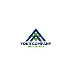 triangle av logo design vector image