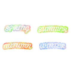 watercolor letters on white background spring vector image