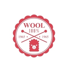Wool Red Product Logo Design vector image