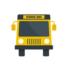 yellow school mini bus icon flat style vector image