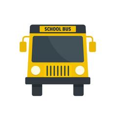 yellow school mini bus icon flat style vector image