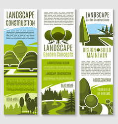 Banners for nature landscaping company vector