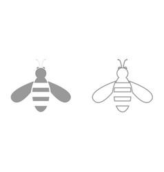 bee it is black icon vector image vector image