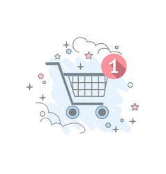 flat basket icon vector image