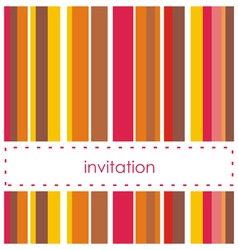 Invitation card template with vertical bars vector image vector image
