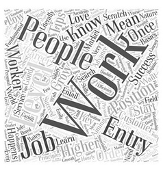 JH entry level jobs Word Cloud Concept vector image vector image