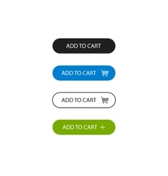 Add to cart buttons outline style vector image vector image