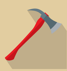 firefighters axe with red handle vector image
