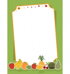 fruit sign vector image vector image