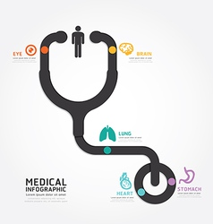 infographics medical design stethoscope diagram vector image vector image