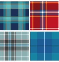 Set of seamless tartan patterns vector image vector image