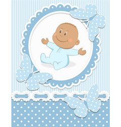 Smiling African baby boy vector image vector image