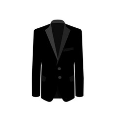 black man suit on white background business suit vector image