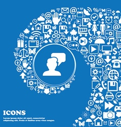 People talking icon sign nice set of beautiful vector