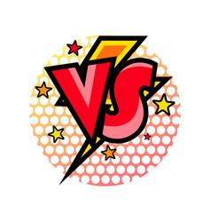 versus comic speech bubble in cartoon style vector image vector image