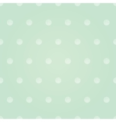 Vintage mint green polka dots circles vector