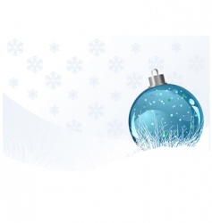 Christmas background with ball vector image vector image