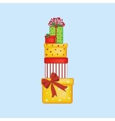 Christmas presents vector image vector image