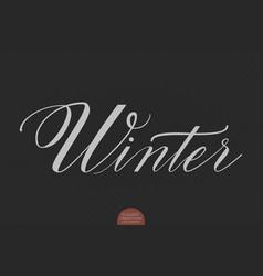 hand drawn lettering winter elegant vector image vector image