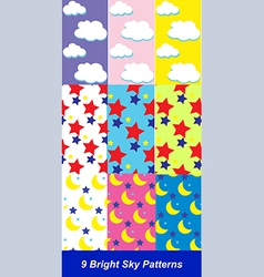 Sky patterns vector image