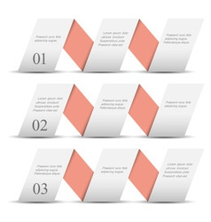 White origami paper numbered banners vector image