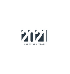 2021 happy new year card for seasonal holidays vector image