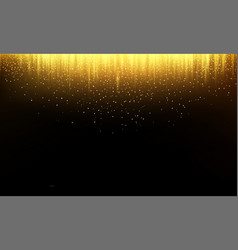 abstract background golden falling glitter vector image