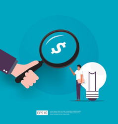 Angel investor looking for opportunity business vector