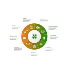 Asset management infographic 10 steps circle vector