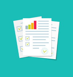 audit financial report and research document vector image