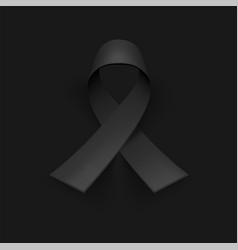 awareness ribbon mourning and melanoma symbol vector image