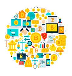 bitcoin icons circle vector image